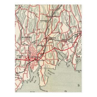 Fahrrad-Straßen in New York und in Connecticut 8 Postkarte