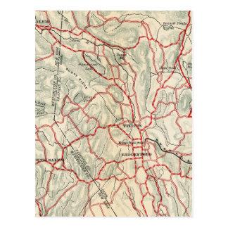 Fahrrad-Straßen in New York und in Connecticut 9 Postkarte