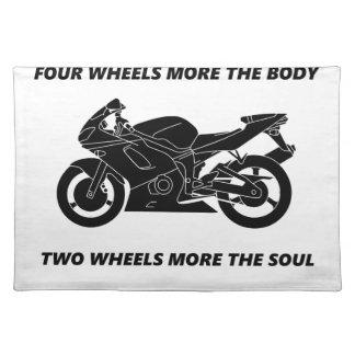Fahrrad- und Körper-Soul Tischset