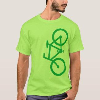 Fahrrad, vertikale Silhouette, grüner Entwurf T-Shirt