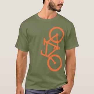 Fahrrad, vertikale Silhouette, orange Entwurf T-Shirt