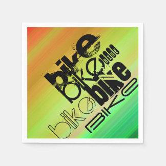 Fahrrad; Vibrierendes Grünes, orange u. Gelb Papierserviette
