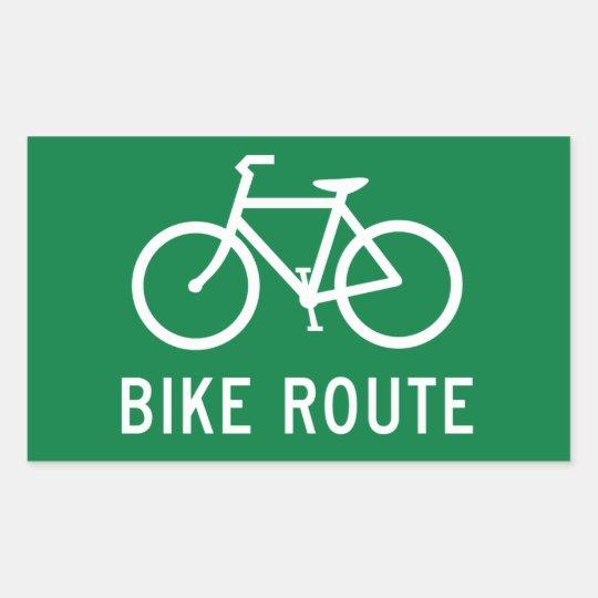 Fahrrad Weg Radfahrenweg Fahrradweg Verkehrsschild Rechteckiger Aufkleber