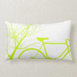 Fahrrad-Wurfskissen der Natur grünes Lendenkissen