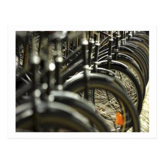 Fahrrad-Zyklus-radfahrende radfahrenlenkstangen Postkarte