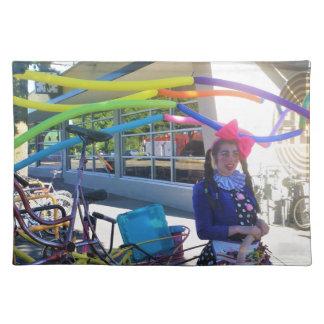 Fahrräder, Ballone und Gebräue Tischset
