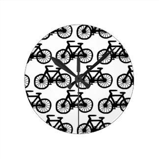Fahrräder Runde Wanduhr
