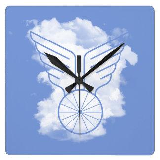 Fahrradfreiheit Quadratische Wanduhr