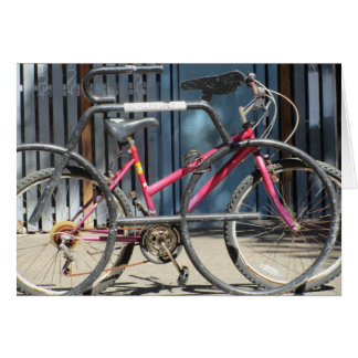 Fahrradhalter Grußkarte