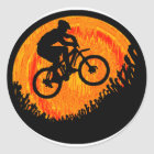 Fahrradmehrfachverbindungsstellenhüften Runder Aufkleber