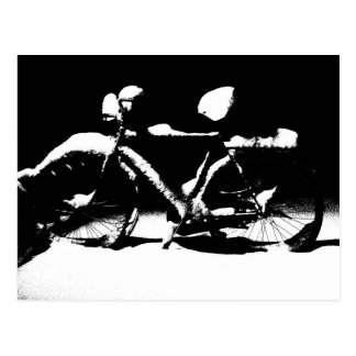 Fahrradnahaufnahme-Grafikpostkarte Postkarte