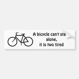 Fahrradwitz Autoaufkleber