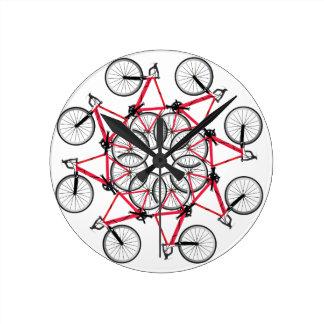 Fahrradzyklus Runde Wanduhr
