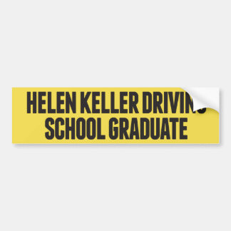 Fahrschule-lustiger Autoaufkleber Helens Keller