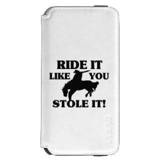 Fahrt, die es Sie mag, stahl es Cowboy Incipio Watson™ iPhone 6 Geldbörsen Hülle