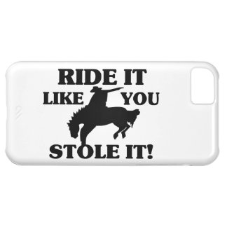Fahrt, die es Sie mag, stahl es Cowboy iPhone 5C Hülle