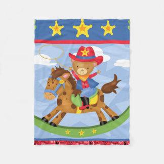 Fahrt-em' Cowboy-Flanell-Decke Fleecedecke