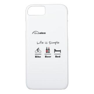 Fährt Fall - Leben einfach rad - Fahrrad - Bier - iPhone 8/7 Hülle