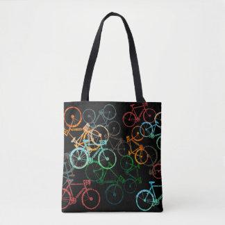 fährt Taschentasche rad. farbige Fahrräder auf Tasche