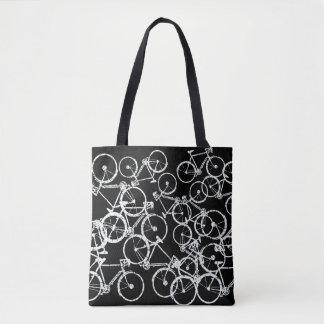fährt Taschentasche rad. weiße Fahrräder auf Tasche