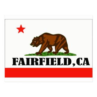 Fairfield, Ca -- T - Shirt Postkarte