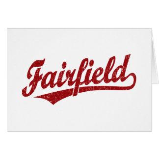 Fairfield-Skriptlogo im Rot Karte