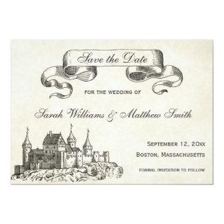 Fairytale, der Save the Date Wedding ist 12,7 X 17,8 Cm Einladungskarte