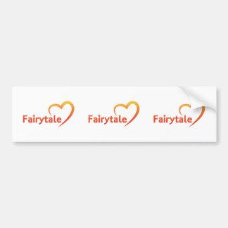 Fairytale mit Liebe Autoaufkleber