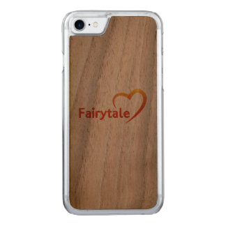 Fairytale mit Liebe Carved iPhone 8/7 Hülle