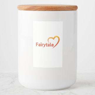 Fairytale mit Liebe Lebensmitteletikett