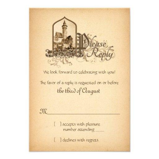 Fairytale-mittelalterliches Schloss einmal nach Personalisierte Einladungskarte