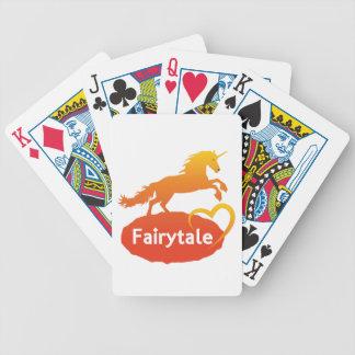 FairytaleUnicorn mit Liebe Bicycle Spielkarten