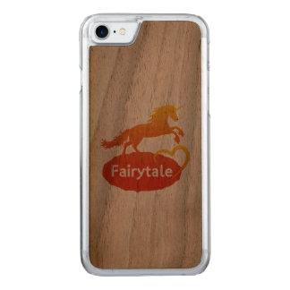 FairytaleUnicorn mit Liebe Carved iPhone 8/7 Hülle