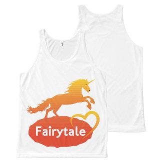 FairytaleUnicorn mit Liebe Komplett Bedrucktes Tanktop