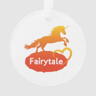 FairytaleUnicorn mit Liebe Ornament