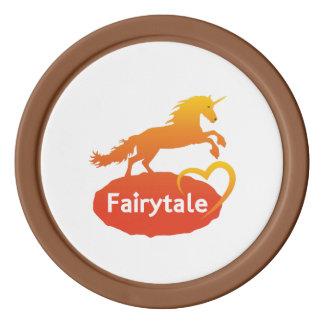 FairytaleUnicorn mit Liebe Poker Chips