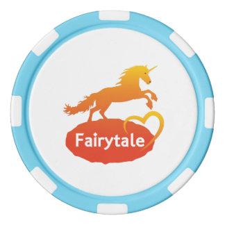 FairytaleUnicorn mit Liebe Poker Chips Set