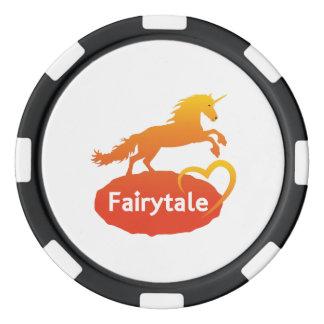 FairytaleUnicorn mit Liebe Pokerchips