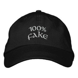Fake 100% bestickte baseballkappe