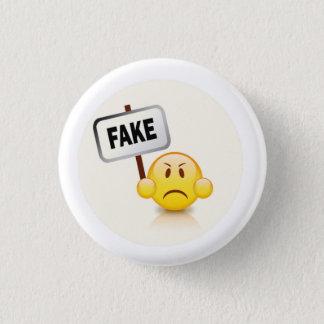 Fake emoji runder button 3,2 cm