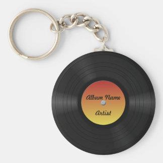 Fake-kundenspezifische Vinylaufzeichnung Schlüsselbänder
