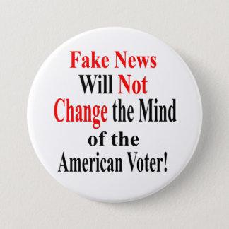 Fake-Nachrichten ändern nicht den Verstand des Runder Button 7,6 Cm