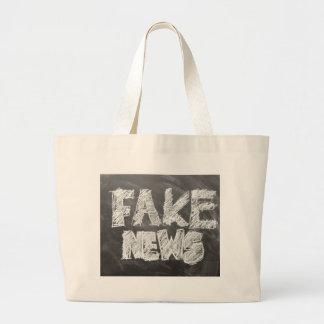 Fake-Nachrichten Jumbo Stoffbeutel