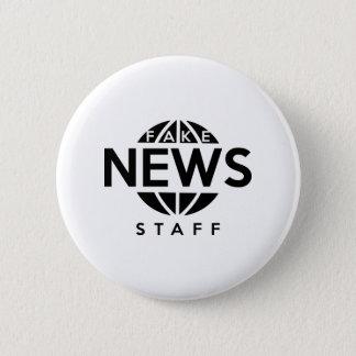 Fake-Nachrichten-Personal Runder Button 5,7 Cm