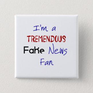 Fake-Nachrichten-politischer Protest-lustiger Quadratischer Button 5,1 Cm