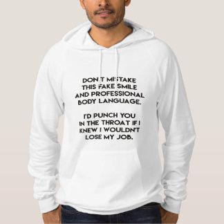 Fakelächeln - lustig, sarkastisches Zitat Hoodie