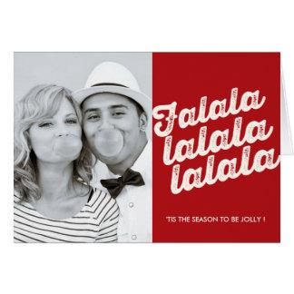 Falalalala WeihnachtsFoto-Feiertags-Gruß-Karte Grußkarte