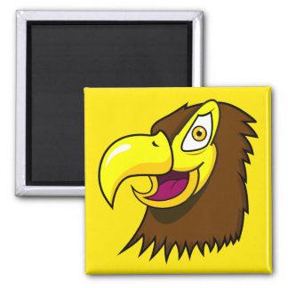 Falke-Gesicht Quadratischer Magnet