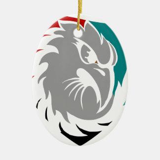 Falke-Sicherheits-Schutz-Schild Keramik Ornament