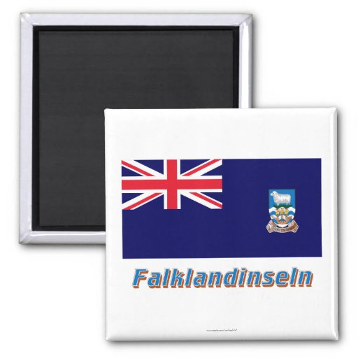 Falklandinseln Flagge MIT Namen Kühlschrankmagnet